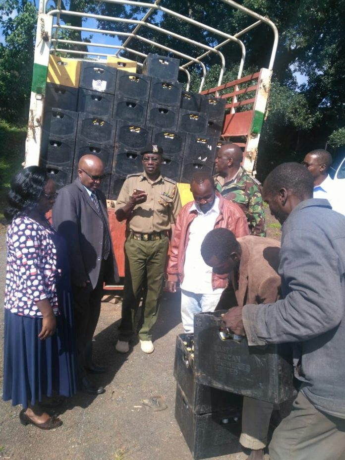 Officers at the scene in West Pokot County