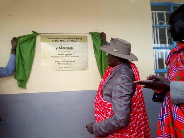 Pokot South MP David Pkosing presided over the opening of the health facility