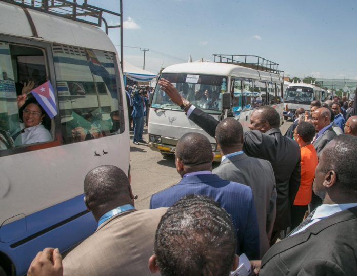 President Uhuru Kenyatta sending off the Cuban doctors who'll be stationed in different Counties