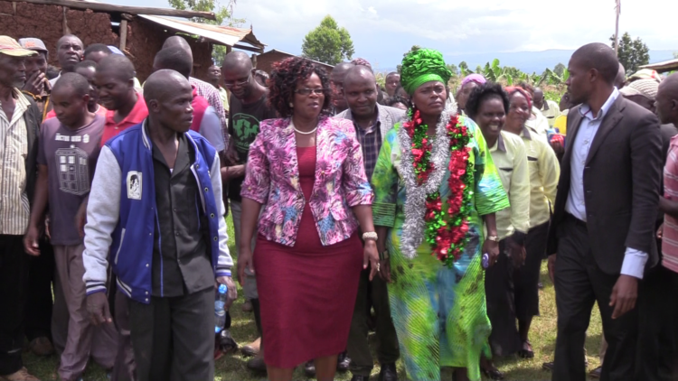Bungoma woman representative Catherine Wambilianga (second right) has called for improved security in Kimilili