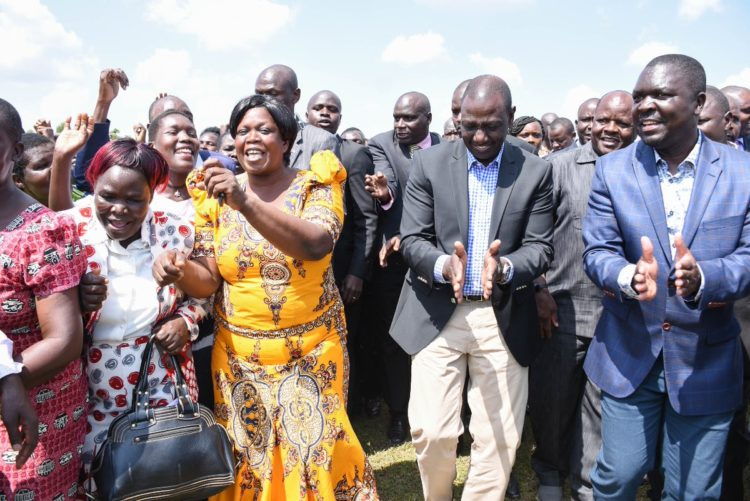 Deputy President William Ruto in Navakholo, Kakamega