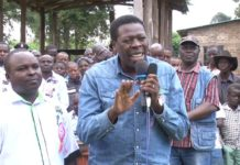 Devolution CS Eugene Wamalwa addressing residents