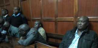 Busia Governor Sospeter Ojaamong at the Anti-Corruption court in Milimani, Nairobi on Wednesday