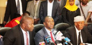 Former Sports CS Rashid Echesa (left) has been arrested by DCI detectives