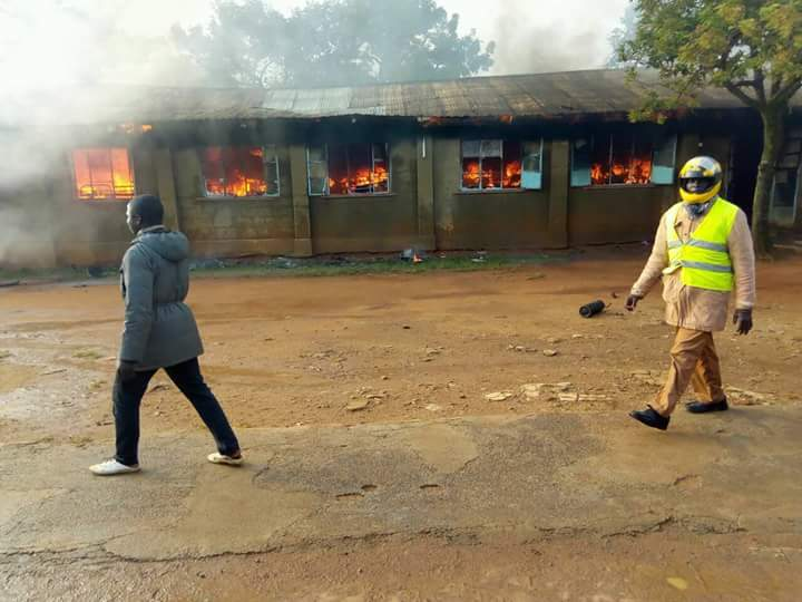 Image result for Images of Chewoyet Boys School fire