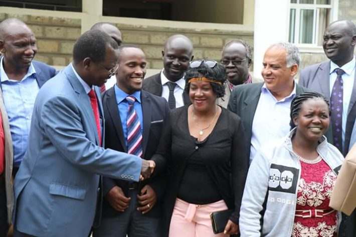 West Pokot Governor John Lonyangapuo welcomed the two Cuban doctors