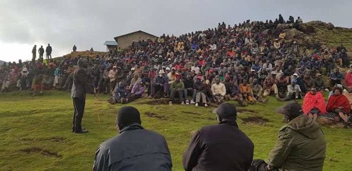 The peace meeting along the West Pokot, Elgeyo Marakwet border