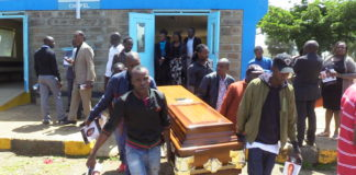 A brief church service was held at the KNH chapel