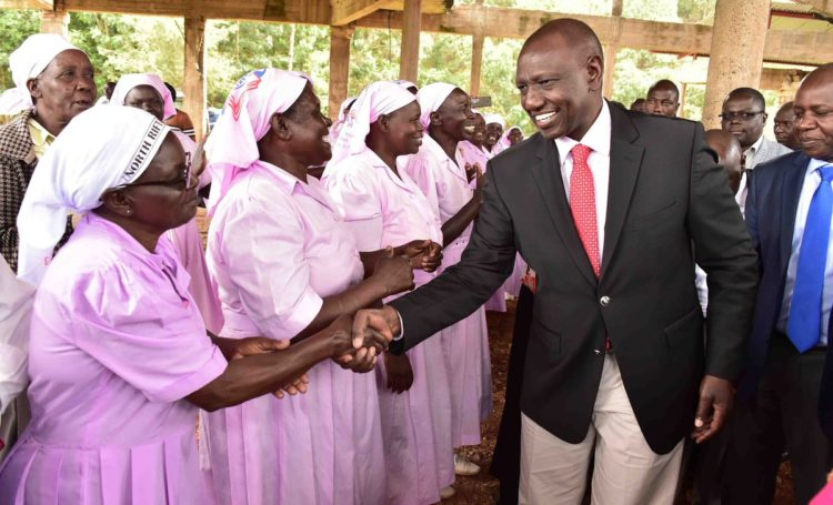 Deputy President William Ruto at AIC Kamarich in Nandi County