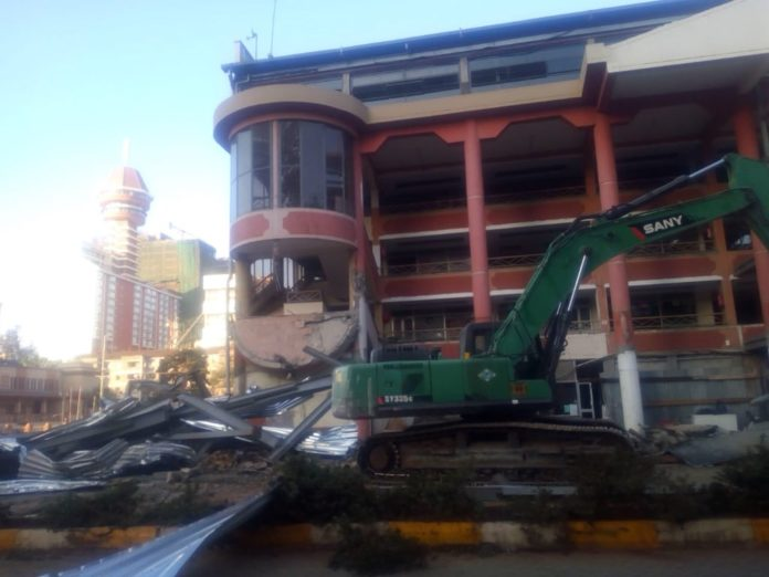 The demolition of structures on riparian land is ongoing