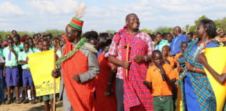 Sigor MP Peter Lochakapong (centre) with West Pokot Governor John Lonyangapuo (left) in a past function