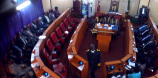 Nandi MCAs during a past address in the County Assembly
