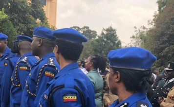 Interior CS Fred Matiang'i has said the new police uniforms won't be imported