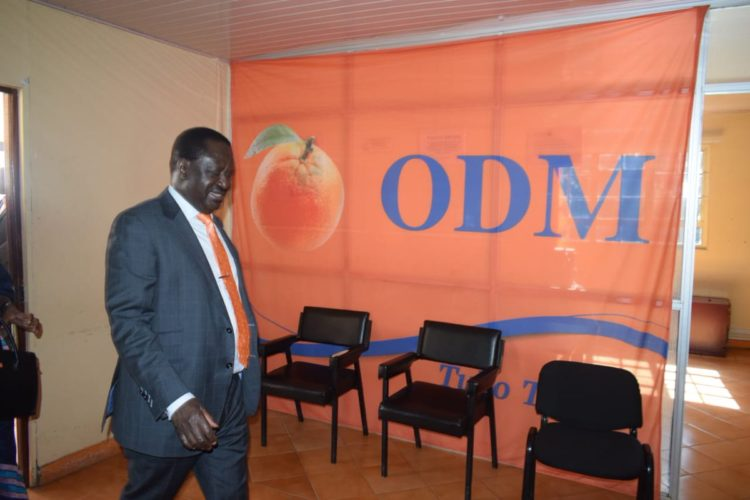 ODM leader Raila Odinga chaired the meeting of NASA MPs where the resolutions were made
