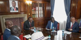 President Uhuru Kenyatta and Raila Odinga met the Building Bridges taskforce at State House