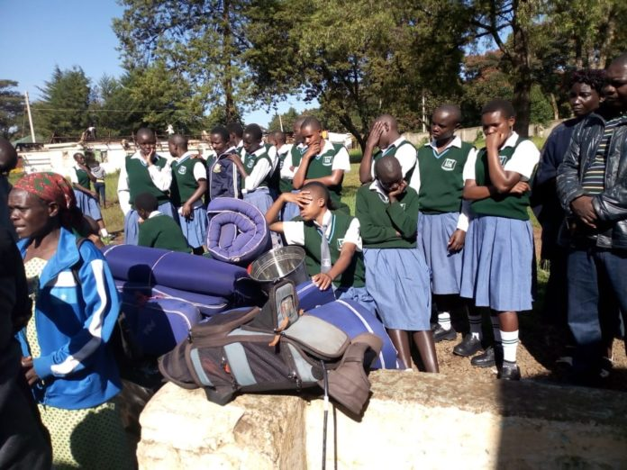 Nasokol high school students at the Kitale ASK ground