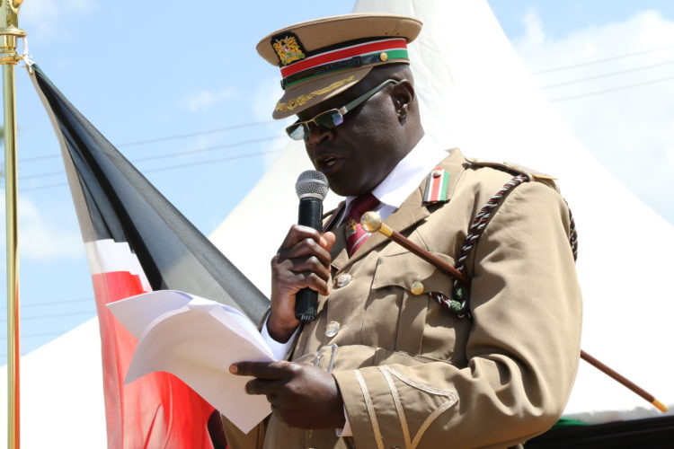 West Pokot County Commissioner Apollo Okello