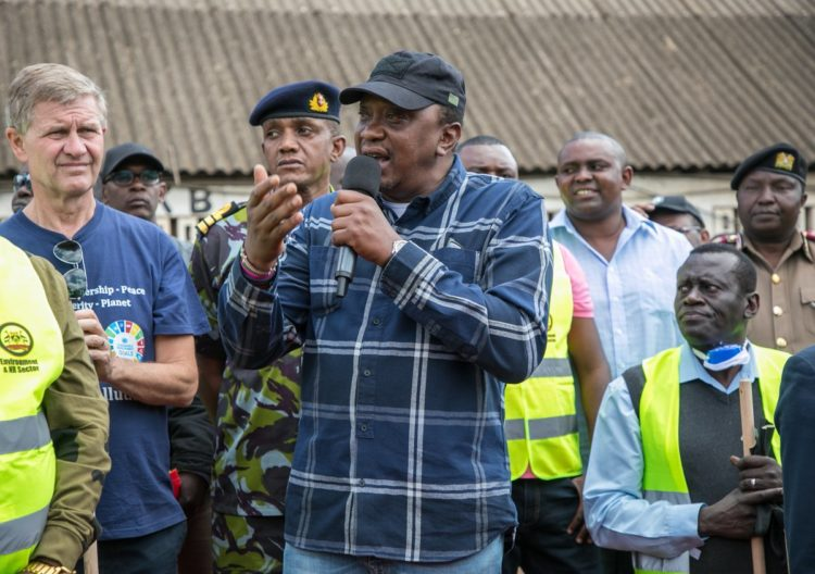 President Kenyatta has urged leaders to shun politicking and wait for 2022. (PHOTO/PSCU)