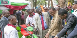 President Uhuru Kenyatta at the Nairobi International Trade Fair. (PHOTO/PSCU)