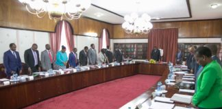 President Uhuru Kenyatta chaired the Cabinet meeting at State House