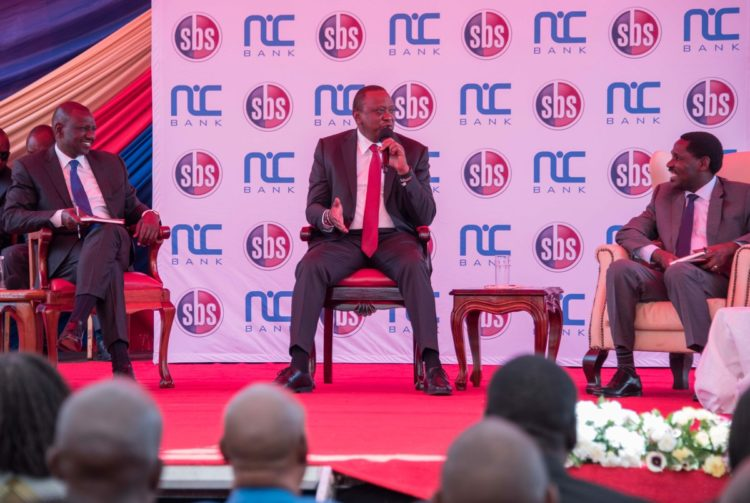 President Uhuru Kenyatta speaking at the SMEs conference