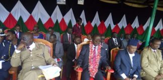 West Pokot leaders at the Mashujaa Day fete