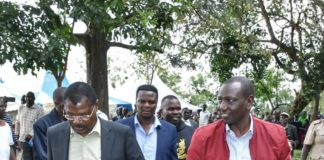 Deputy President William Ruto and Bungoma Senator Moses Wetangula during the DP's visit to Bungoma County