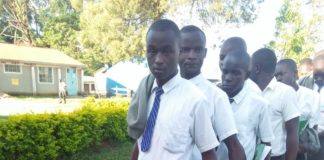 Malava Boys High School candidates being frisked