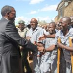 Chief Justice David Maraga at Kamiti prison