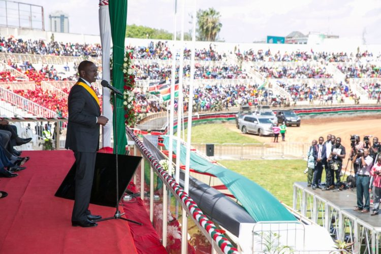 Deputy President William Ruto addressing Kenyans during the Jamhuri Day celebrations. (PHOTO/PSCU)