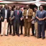 Deputy President William Ruto and leaders from Bungoma County during the fundraising at Christ the King Catholic Church in Bungoma