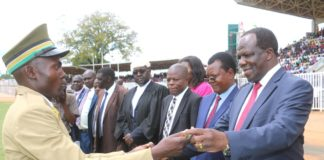 The ceremony was presided over by Kakamega Governor Wycliffe Oparanya