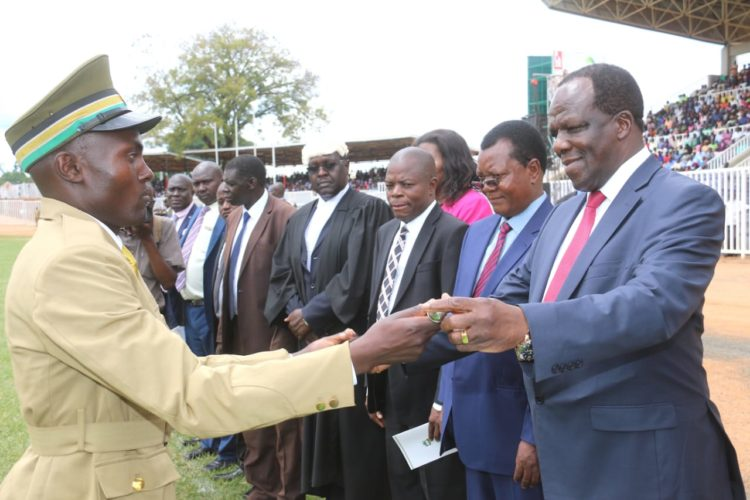 Kakamega Governor Wycliffe Oparanya presiding over a past ceremony