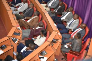 Members of the Nandi County Assembly during the address