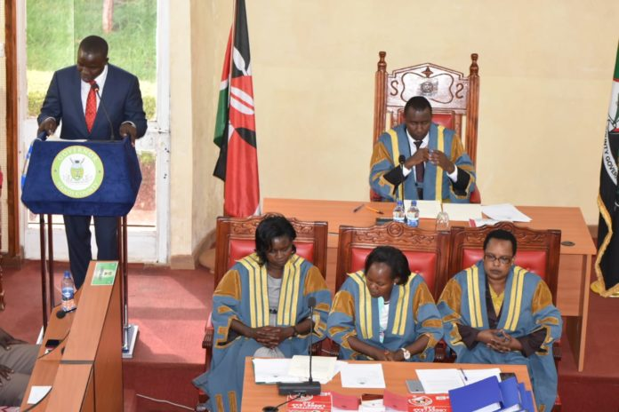Nandi Governor Stephen Sang giving his state of the County address