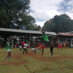 Nandi volleyball players at the KYISA games
