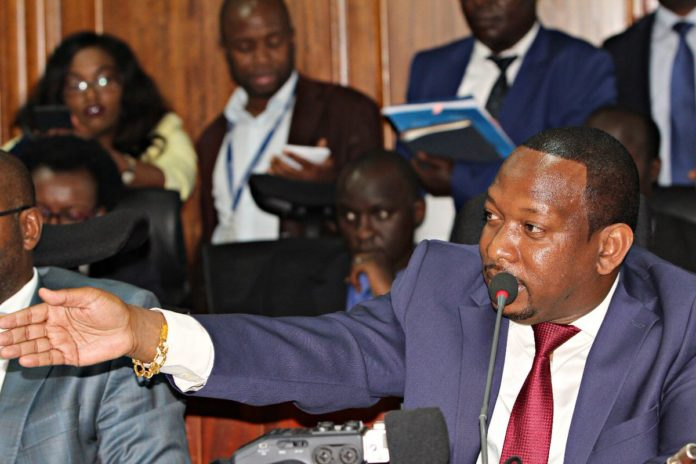 Nairobi Governor Mike Sonko appearing before the Senate Public Accounts and Investment Committee