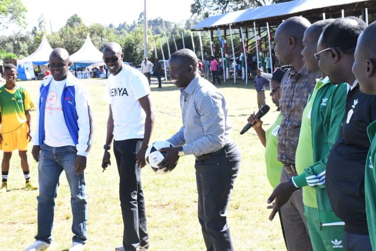 Nandi Governor Stephen Sang at the KYISA games commencement