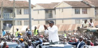 President Kenyatta in Kisumu.(PHOTO/PSCU)