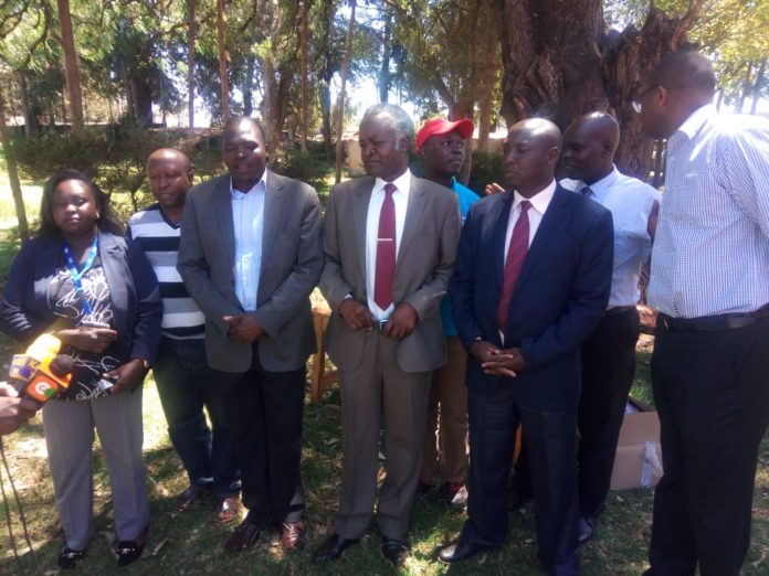 KLB and Nandi education officials at Namgoi primary school