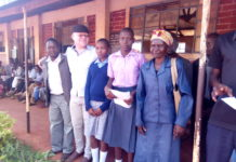 MCA Pepela with the parents and students who received bursaries