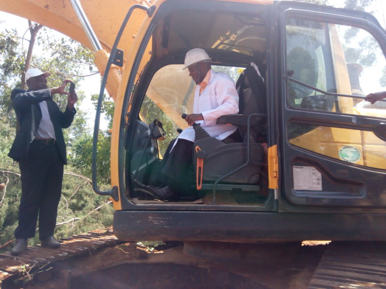 Bungoma Roads CEC Collins Mukhongo leads the ground breaking
