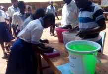 Lugulu Boarding Primary School pupils during the election process