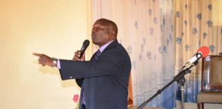 Greater Rift Valley Conference Youth Director Peter Kamau Githinji at Namgoi SDA church during the two day church workers seminar