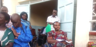 One of the beneficiaries who received a wheel chair