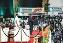 President Uhuru Kenyatta speaking at the National Anti-Corruption Conference in January 2019, where leaders agreed to tackle the menace (PHOTO/PSCU)