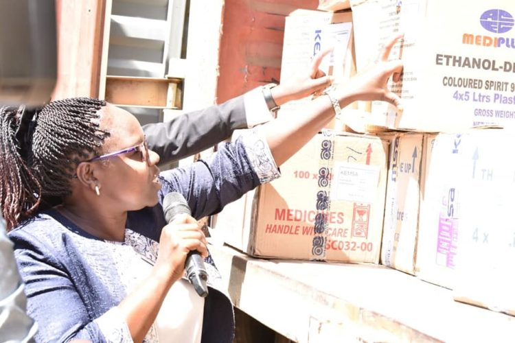 The consignment of drugs received by the Nandi administration