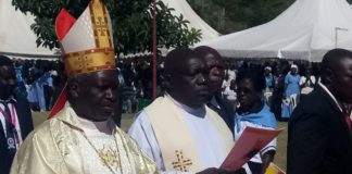 New Kisumu Archbishop Philip Anyolo took over from his predecessor Zacchaeus Okoth