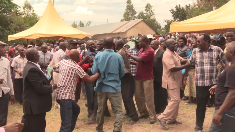 The drama ensued after youths tried to block Moses Nandalwe from accessing the venue
