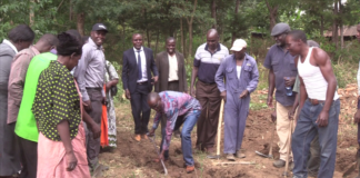 The groundbreaking for the ECDE classes which will be set up by the Bungoma County government